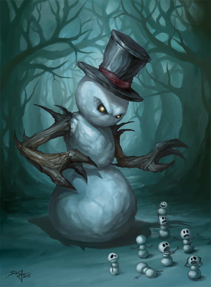 by Beloved CreatureEvil Snowman Tattoo